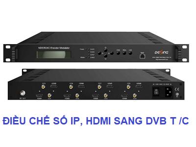 Điều chế số tín hiệu IP sang DVB T2 / DVB C