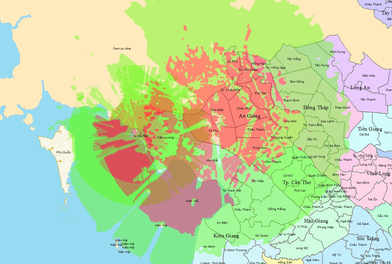 Bản đồ phủ sóng DVB T2