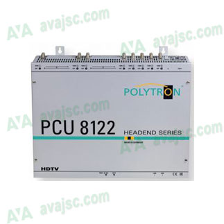 PCU 8122 hỗ trợ 8 DVB-S/S2, DVB-T/T2, DVB-C ra DVB-T với 4 CI